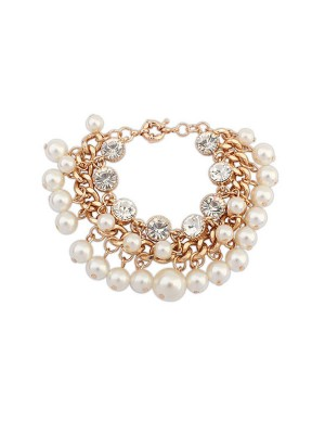 Occident Fashionable Pearls Flash Drilling Exquisite Hot Sale Bracelets