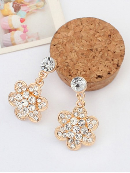 Occident Exquisite with diamonds Flowers Hot Sale Earrings