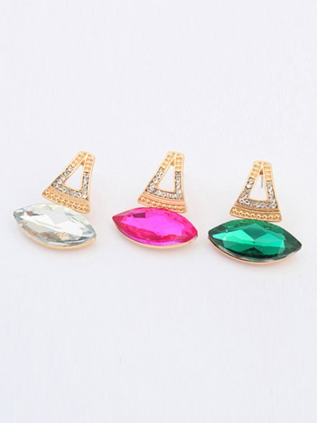 Occident Retro Temperament Gemstone Boutique Hot Sale Earrings