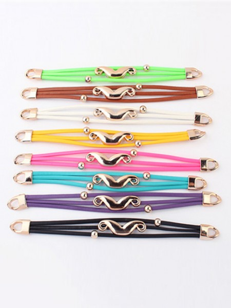 Occident Fluorescent colors Major suit Mustache Hot Sale Bracelets