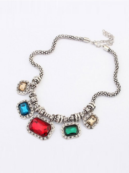 Occident Punk Retro Luxurious Gemstone Hot Sale Necklace