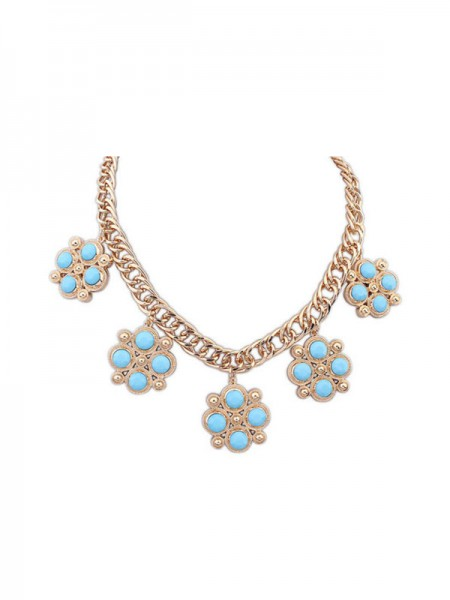 Occident Sweet Fashionable Candy Colors All-match Hot Sale Necklace
