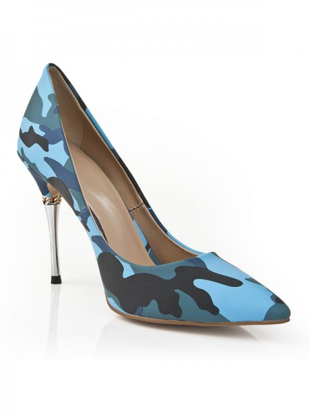 Women's Closed Toe Stiletto Heel With Leopard Print High Heels